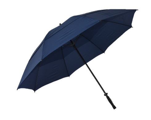 Navy Vented Golf Umbrella Side