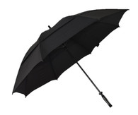 Black Vented Golf Umbrella Side