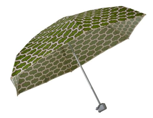 Compact Moroccan Olive Umbrella Side