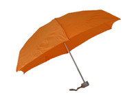 Compact Orange Umbrella Side