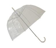 Clear Dome Umbrella Side