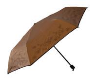 Compact Bronze Flower Umbrella Side