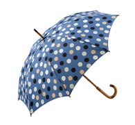 Classic Blue with Polka Dots Umbrella