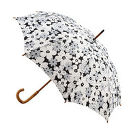 Classic Grey & White Flower Umbrella