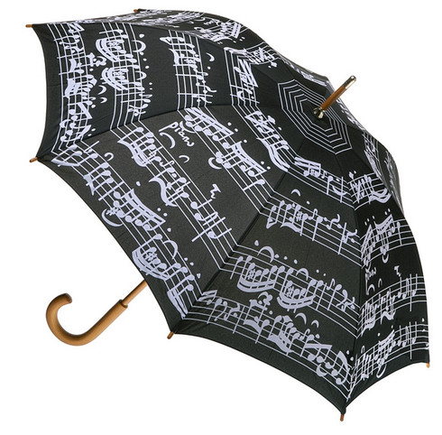 Music Notes Umbrella Full Length