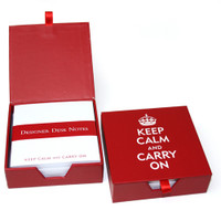 Keep Calm and Carry On Desk Notes with Keepsake Box