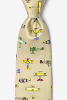 Vintage Warplanes Necktie Tan