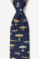 Vintage Warplane Necktie Black
