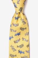 WWII Fighter Plane Necktie Yellow