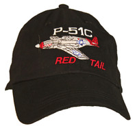 P-51 Red Tail Embroidered Hat