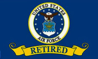 United States Air Force Flag Retired New Logo 3x5