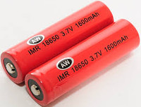 AW set of 2 18650 batteries 2000mah