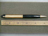 EVERSHARP SKYLINE PENCIL IN BLACK WITH GOLD FILLED CAP