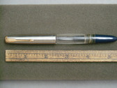 PARKER 51 FOUNTAIN PEN WITH UNUSUAL CLEAR DEMONSTRATOR BARREL