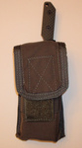 Double mag pouch with knife pocket