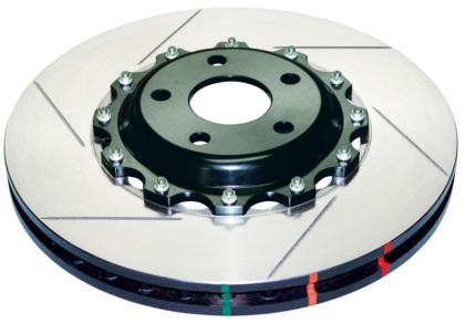 DBA 05-06 Corvette C6 w/Z06 pkg Front Drilled & Slotted 5000 Series 2 Piece Rotor Assembled w/ Gold Hat 52992GLDXS