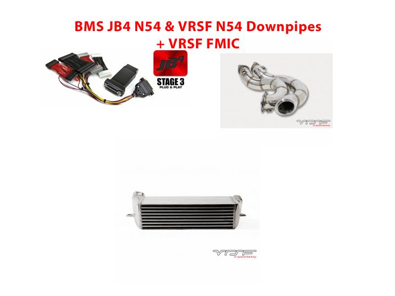 BMS Power Package 4: BMS JB4 N54, VRSF Downpipes N54 and FMIC (Optional Intake)