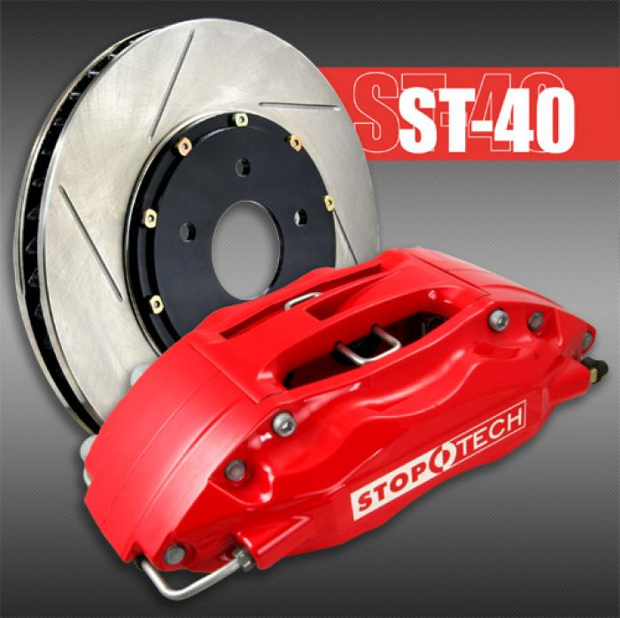 Stoptech 13 Subaru BRZ BBK Front ST-40 Red Caliper 328 x 28 Slotted Rotor  83.827.4300.71