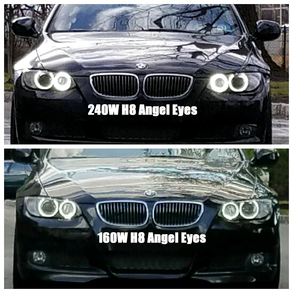 led angel eyes 160w vs 240w how much difference in output. Black Bedroom Furniture Sets. Home Design Ideas
