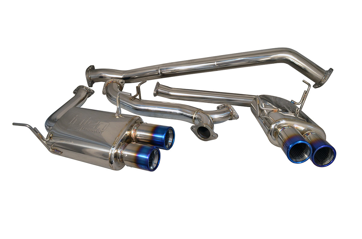 Injen Cat Back Exhaust Quad Titanium Tips SES1206TT, 2015 Subaru WRX STI