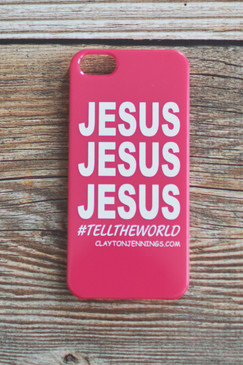 JESUS IPHONE 5 COVER - PINK