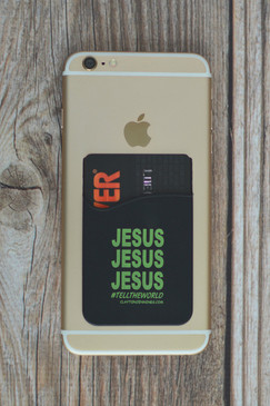 JESUS CARD SLEEVE BLACK/GREEN