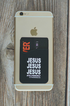 JESUS CARD SLEEVE BLACK/WHITE