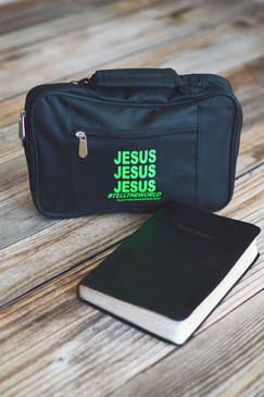 JESUS BIBLE COVER - GREEN