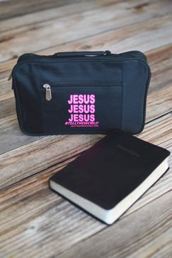 JESUS BIBLE COVER- PINK
