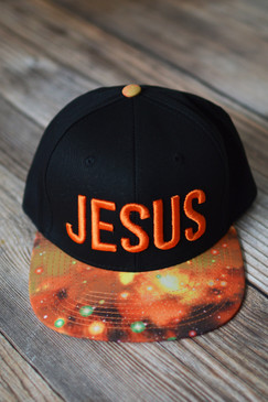 EMBROIDERED JESUS HAT - ORANGE