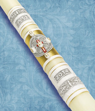 #34 - The Resurrection & The Life - 51% Beeswax Paschal Candle