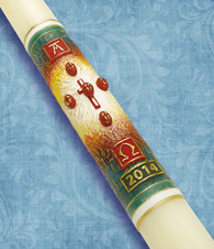 #36 - Light of The World - 51% Beeswax Paschal Candle