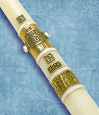 #42 - Bread of Life- 51% Beeswax Paschal Candle