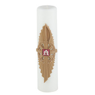 Advent Pillar, 3 X 12 Wax Chi Rho Band [Each]