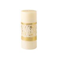 Advent Pillar, 4 X 9 Gilded Gold Band [Each]