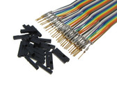 HQ 40-Pin M-M Zippable Color Jumper Wire 2.54mm Pre-Crimped Gold Plated - 40cm