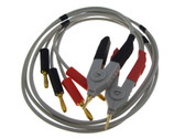 HQ LCR Meter Cable w/ 4 Banana Plug Connectors kelvin clip SMD