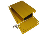 HQ Aluminum Project Box Enclousure DIY 100*76*35mm - Gold