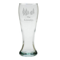 PERSONALIZED PINE TREES PILSNER GLASS: SET OF 4