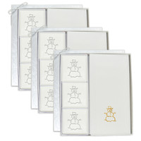 Signature Spa Courtesy Gift Set - Gold Snowman (Set of 3)