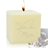 "4"" Soy Pillar Candle - Songbird for Mom"