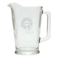 PERSONALIZED NAME WREATH PITCHER  (GLASS)