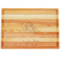 "Large Master Cutting Board 20"" X 14.5"" - Personalized Cornucopia"