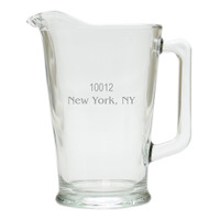 PERSONALIZED ZIP CODE PITCHER  (GLASS)