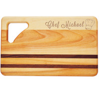 "Small Integrity Cutting Board 10"" X 6"" - Personalized Chef Hat"