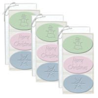 Signature Spa Trio - Green Tea, Satsuma & Blue Lupin: Snowman, Merry Christmas, Snowflakes (Set of 3)