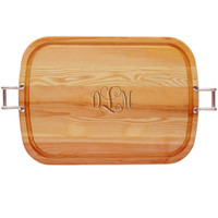 """EVERYDAY COLLECTION: 21"""" x 15"""" LARGE SERVING TRAY WITH URBAN HANDLES -PERSONALIZED"""