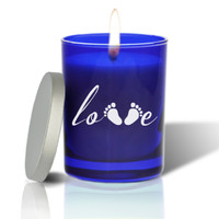 Sapphire Soy Glass Candle - Love Footprint