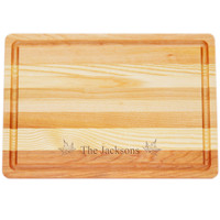 "Medium Master Cutting Boards 14.5"" X 10"" - Personalized Maple Leafs"