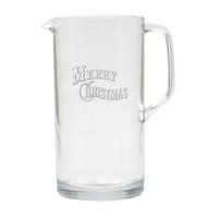 MERRY CHRISTMAS PITCHER  (Unbreakable)